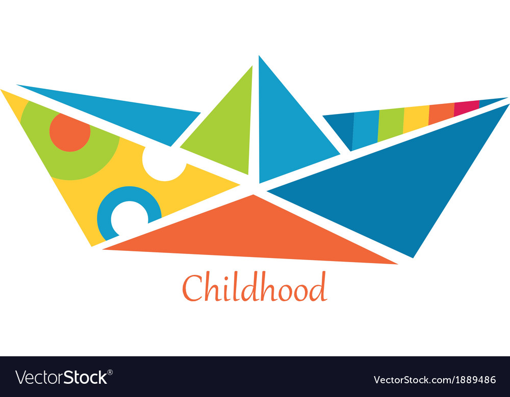 Ship from childhood vector