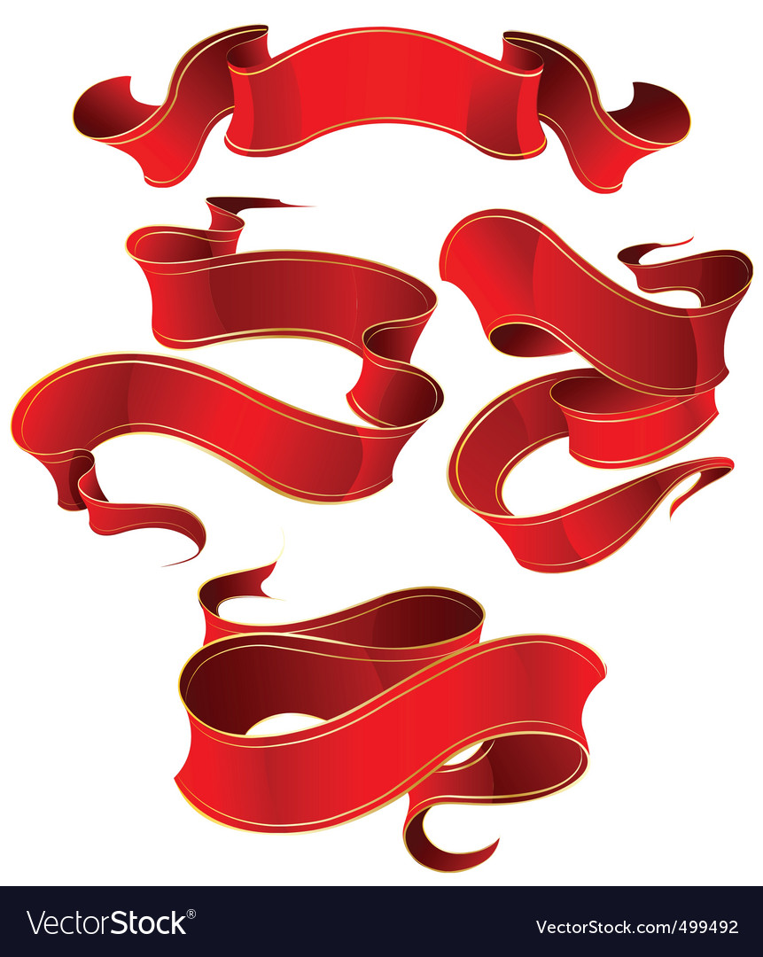 Silk ribbon vector