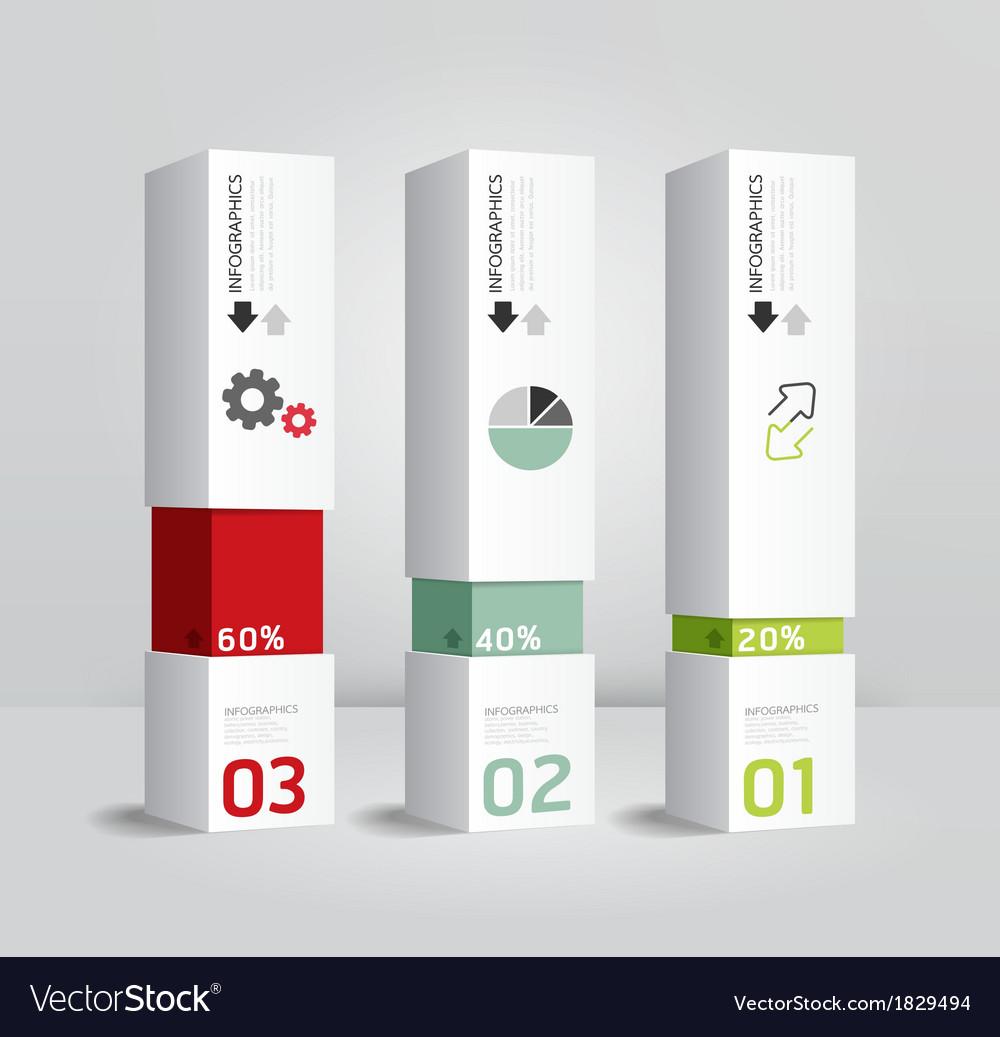Infographic template modern box design minimal sty vector