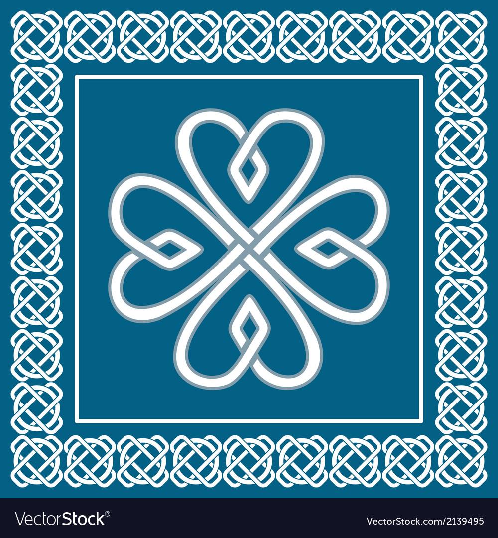 Shamrock - celtic knot traditional irish symbol vector
