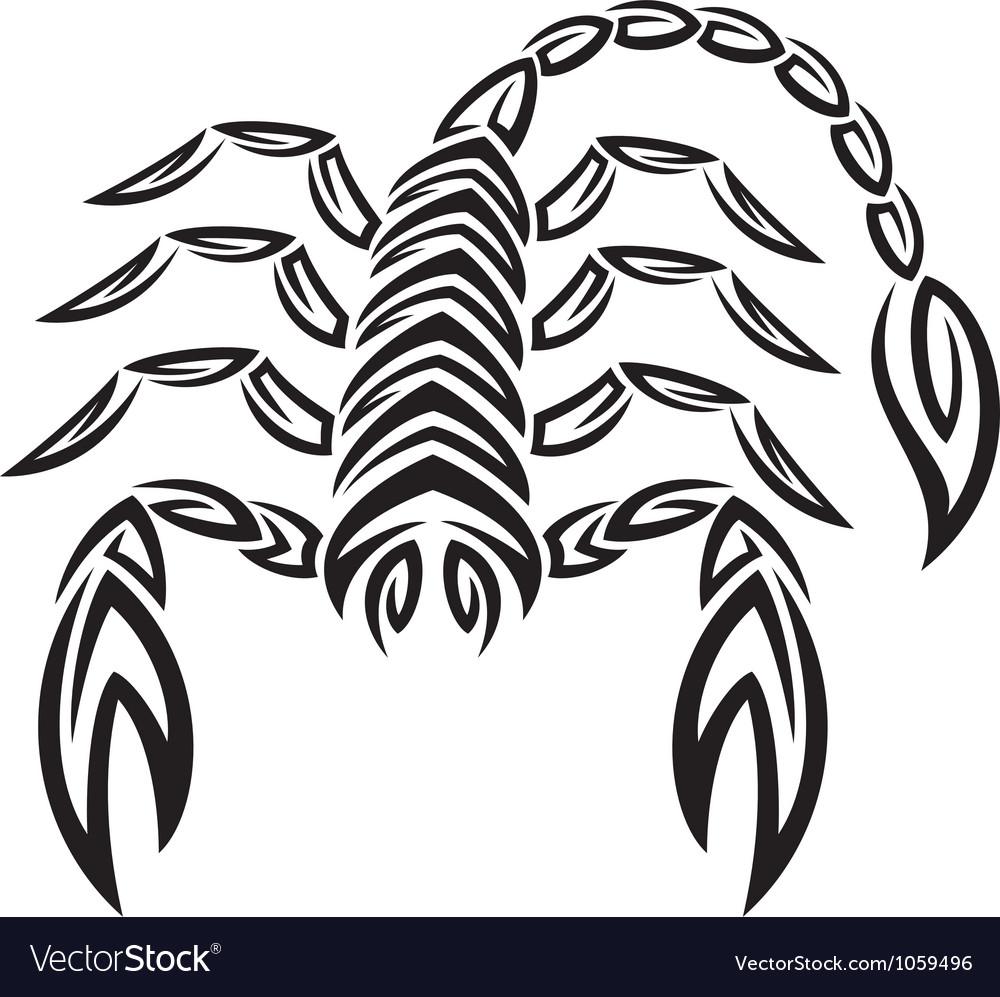 Tattoo zodiac scorpion - astrology sign vector