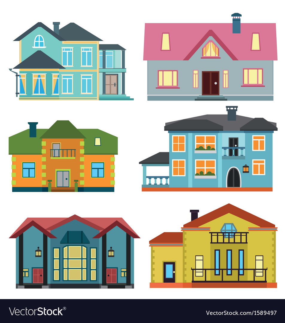Set of cottage for infographics vector