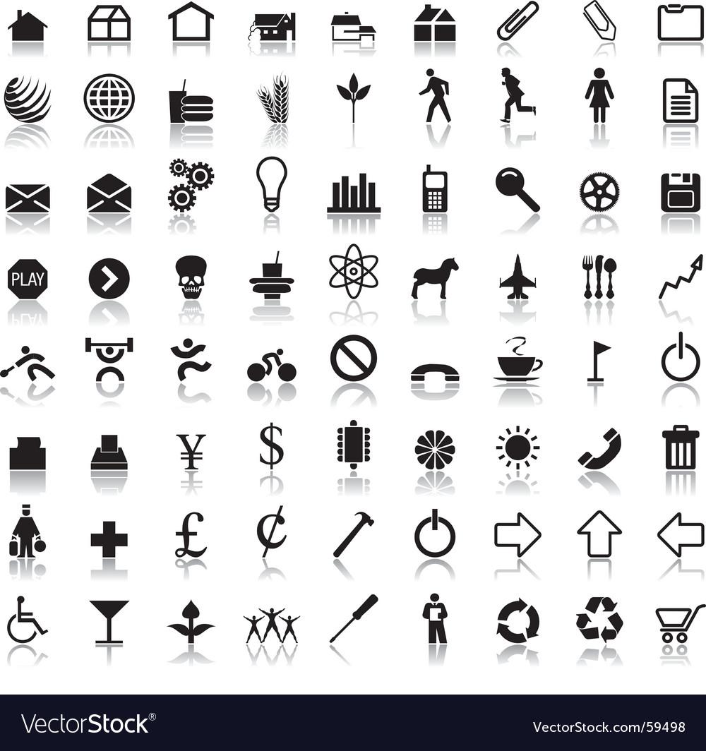 Symbol reflections vector