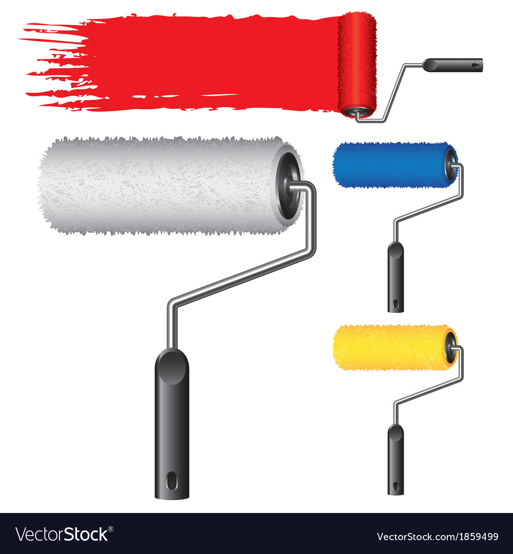 Object roller paint vector