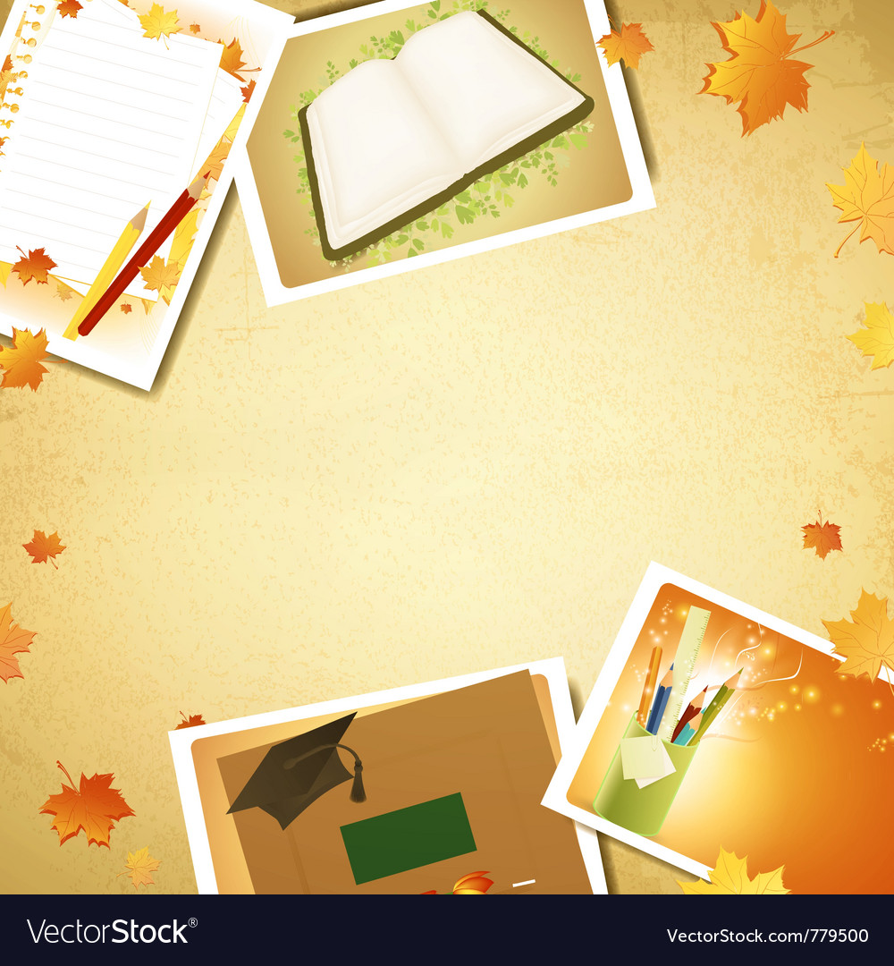Vintage education background vector