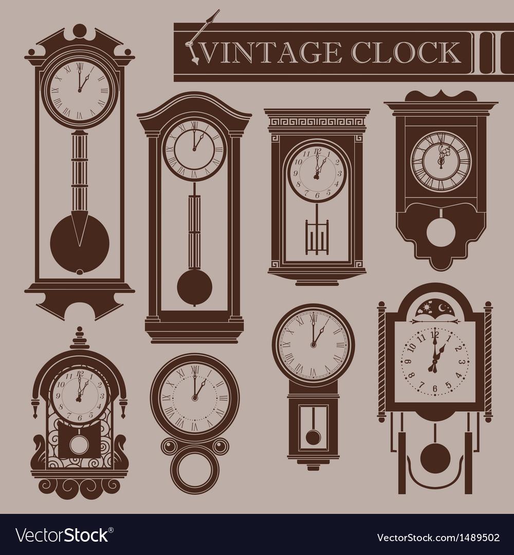 Vintage clock ii vector