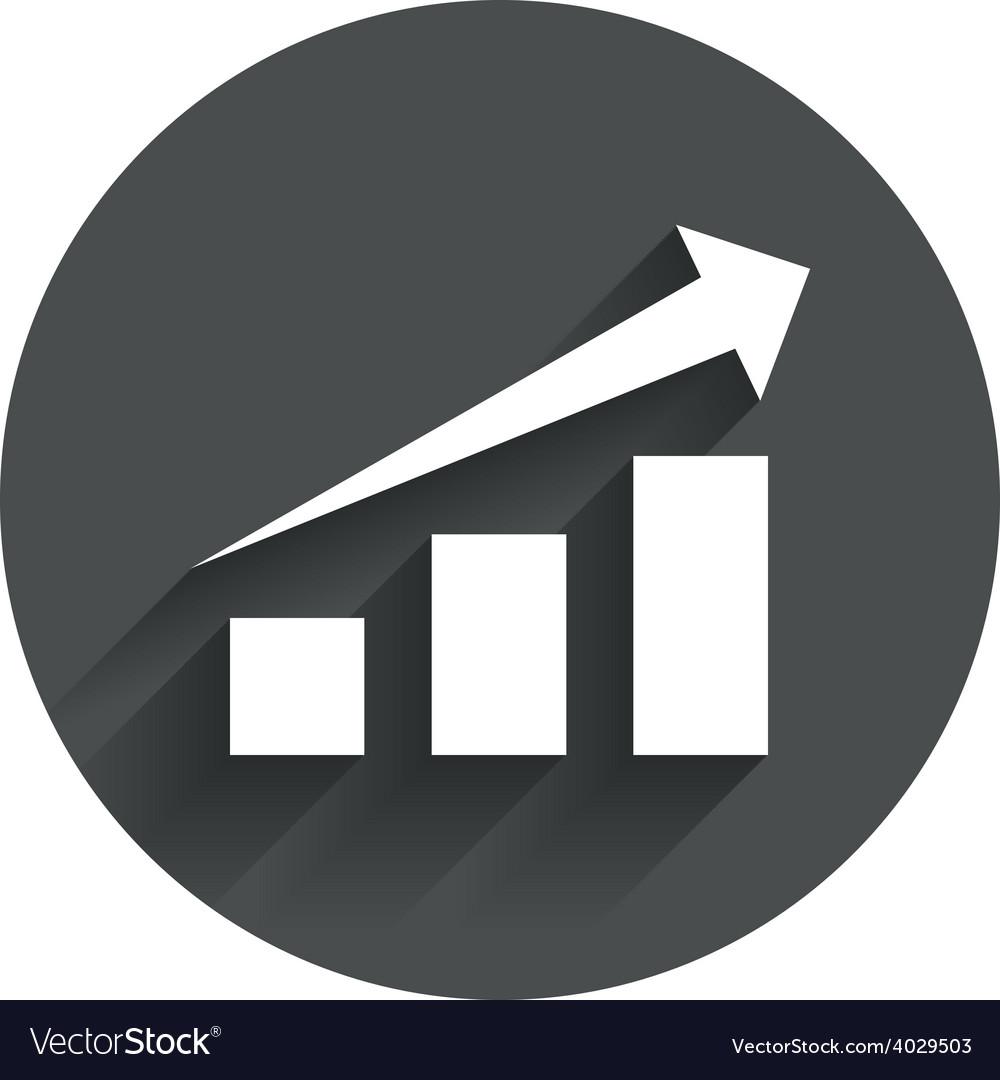 Chart with arrow sign success diagram symbol vector