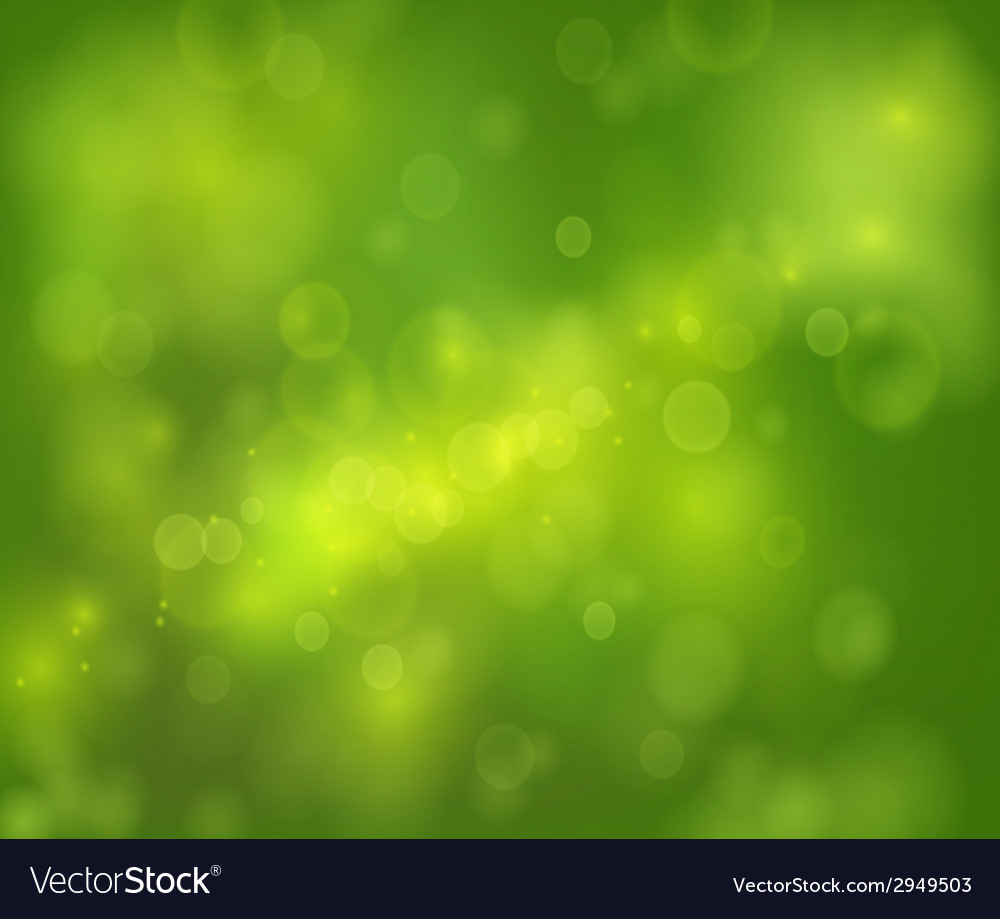 Green bokeh abstract light background vector