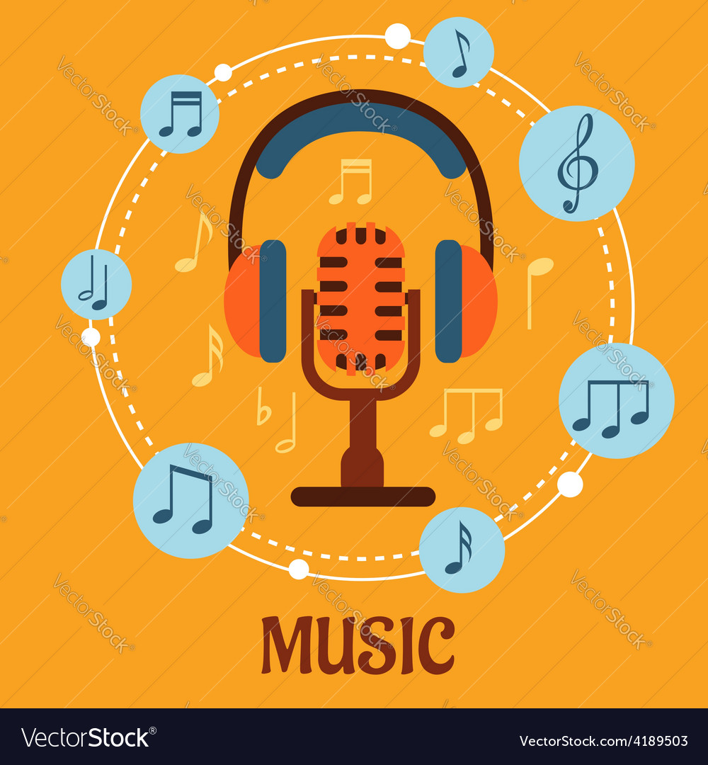 Music sound and entertainment concept vector