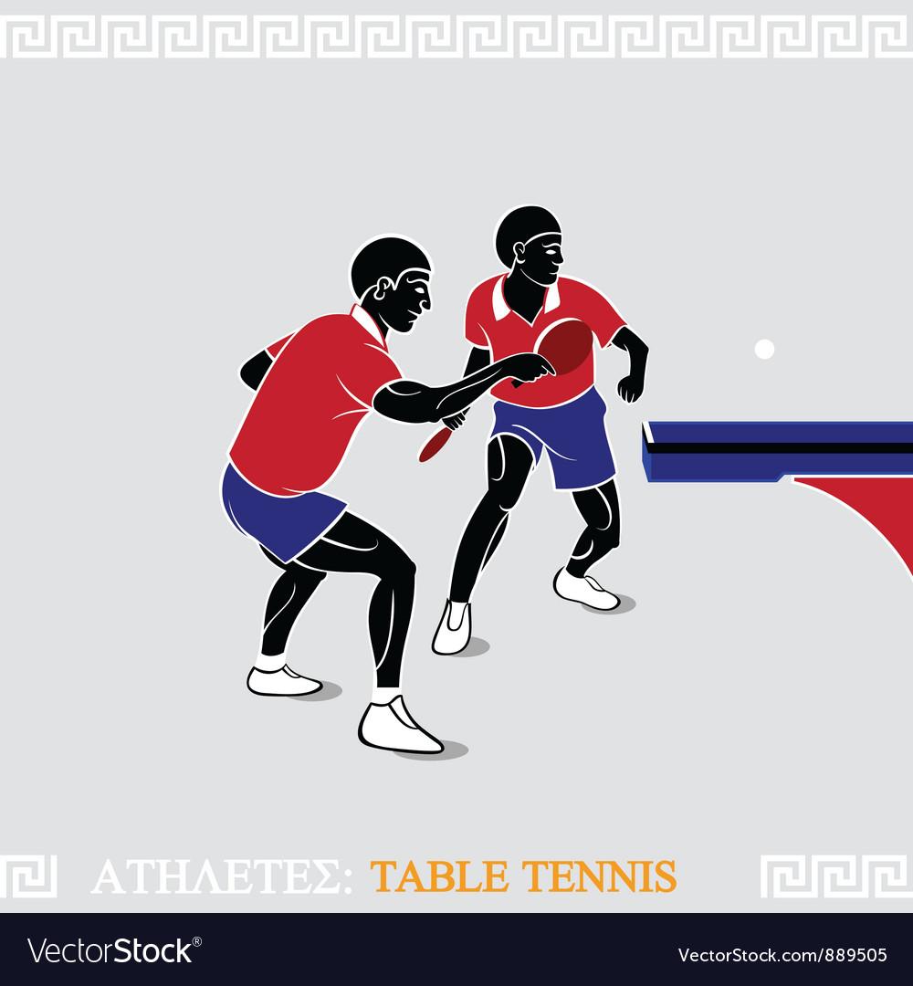 Athlete table tennis vector