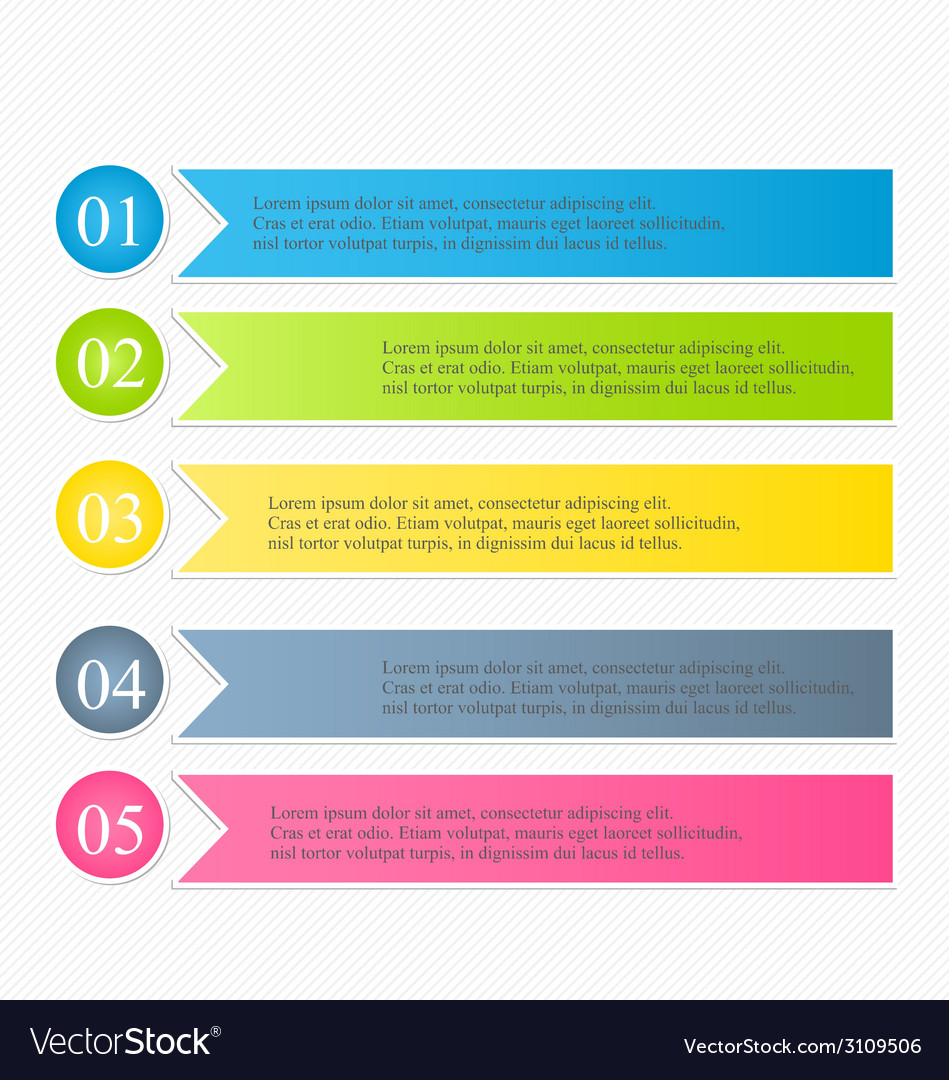Modern infographics colorful design template with vector