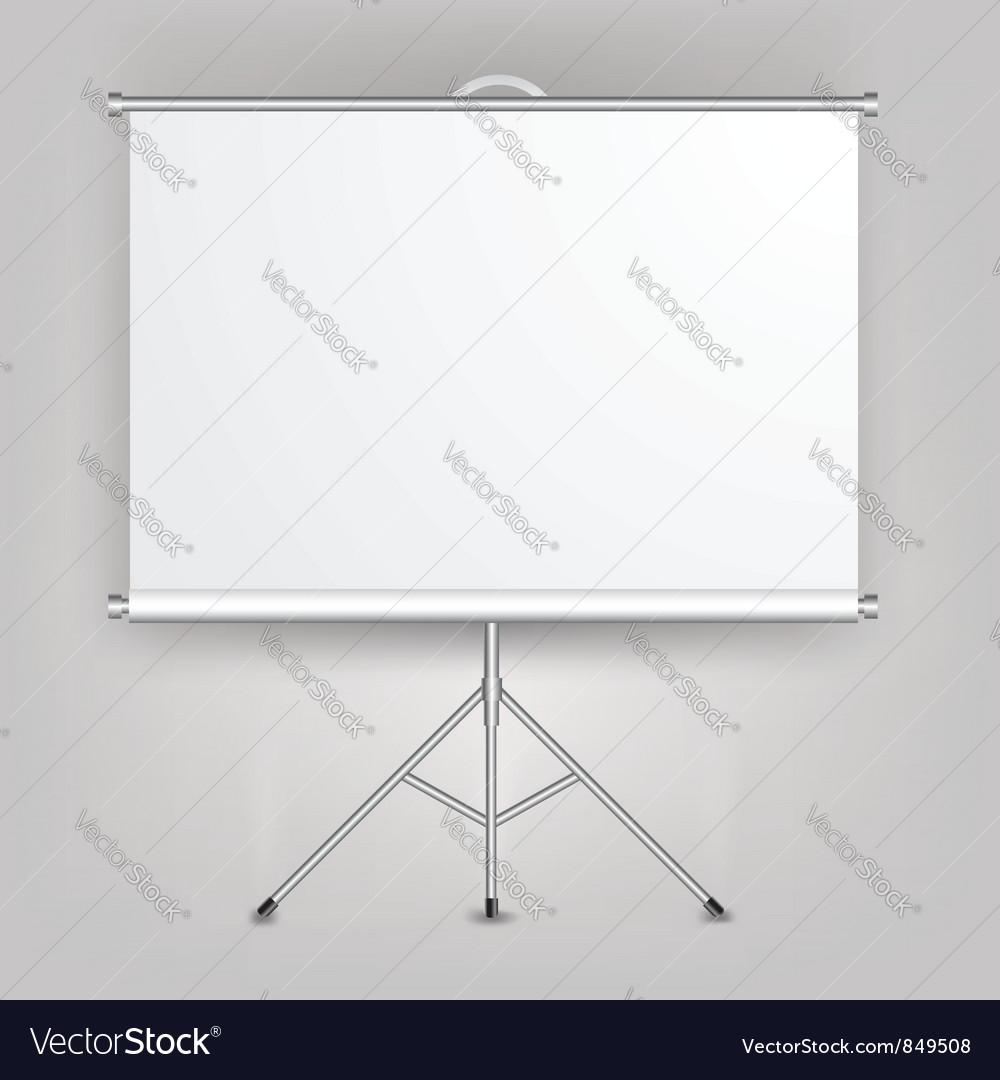 Blank presentation screen vector