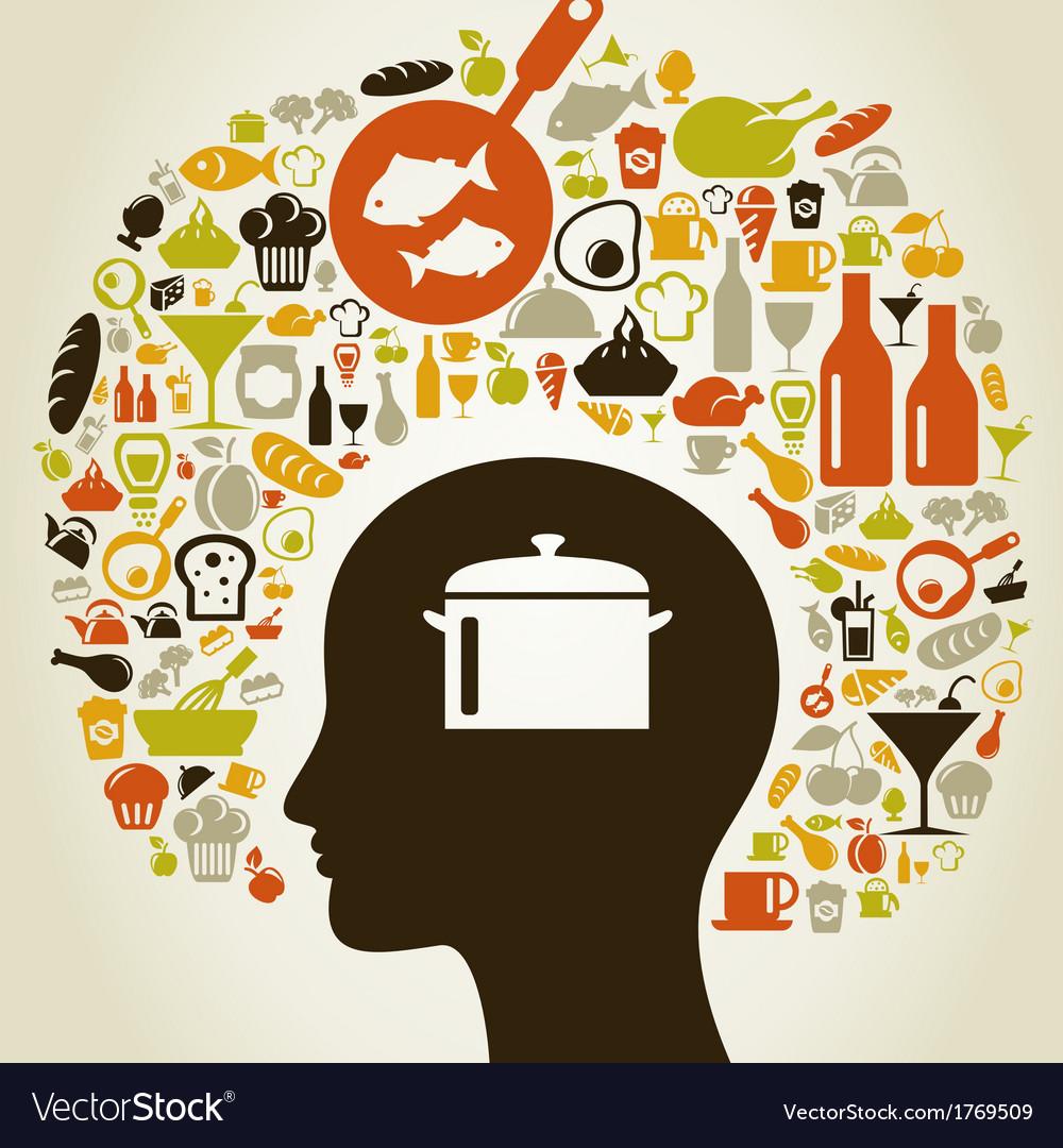 Head food5 vector