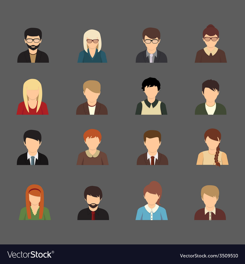 Social networks business private users avatar vector