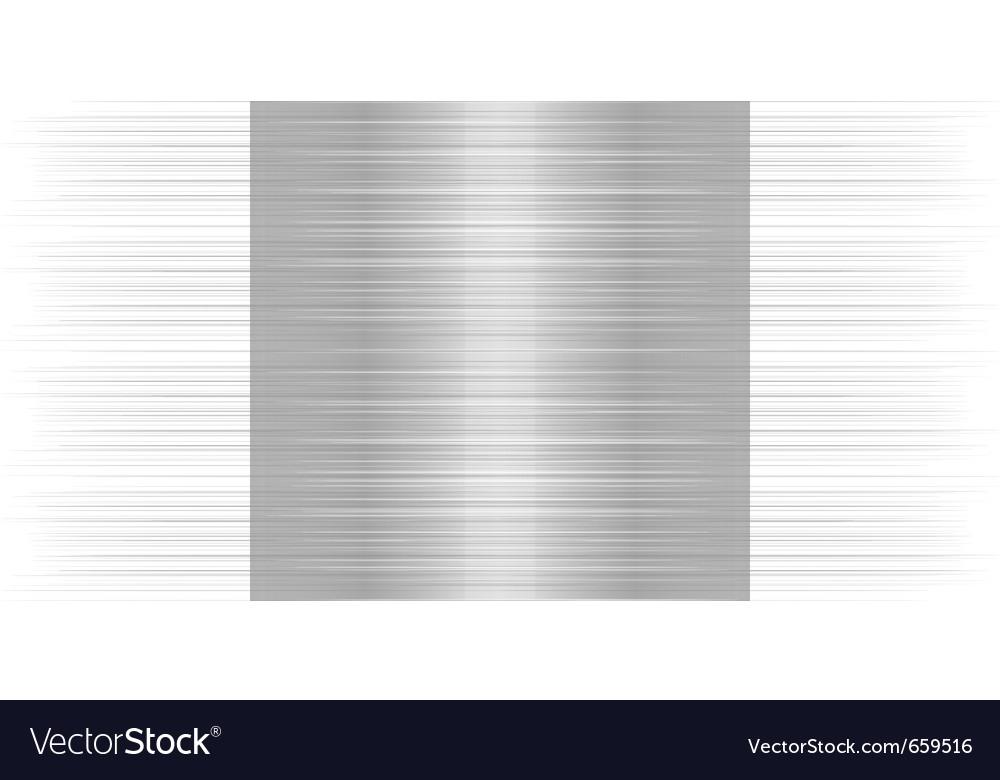 Shiny metallic steel plate vector