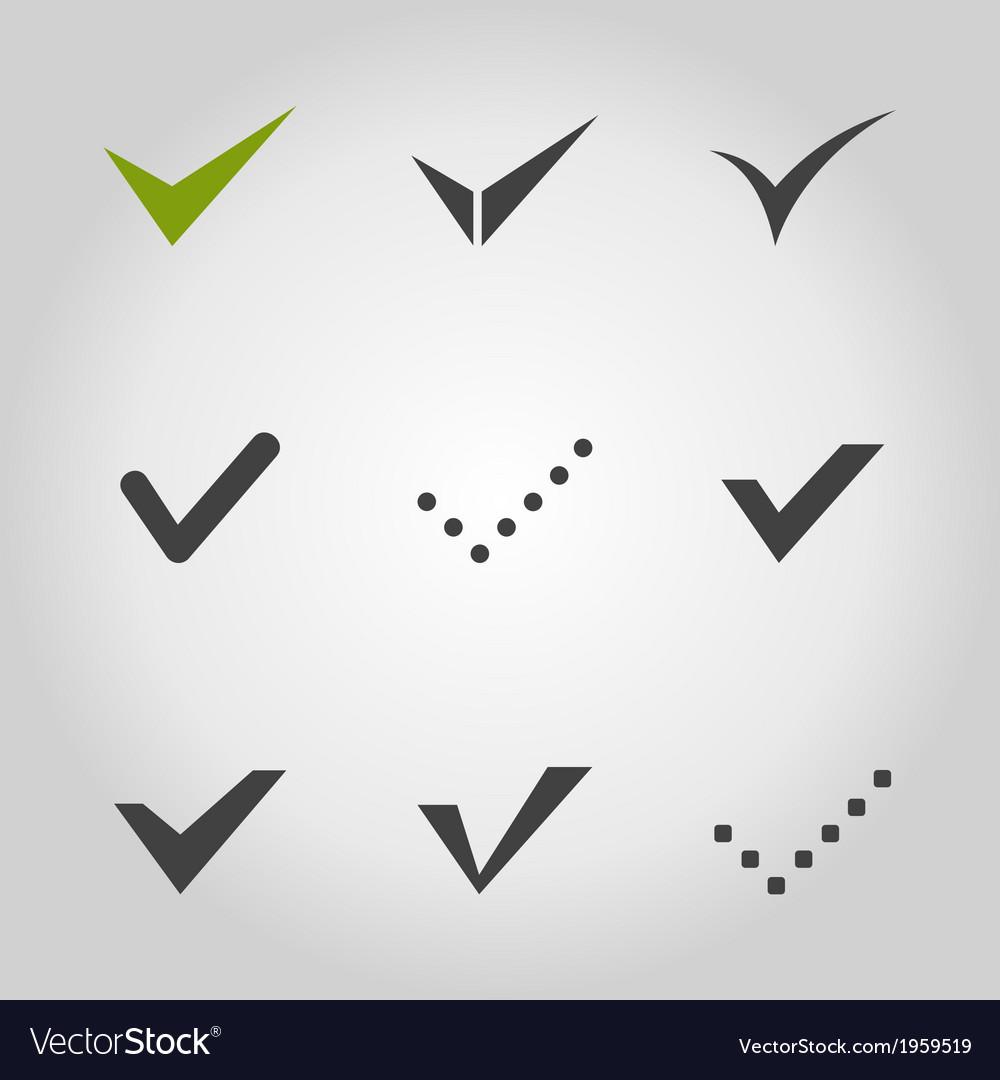 Tick an icon vector