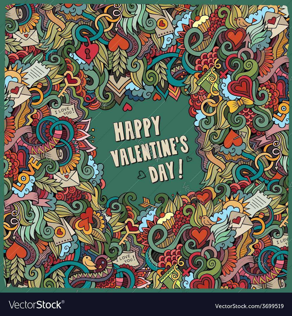 Valentines day frame background vector