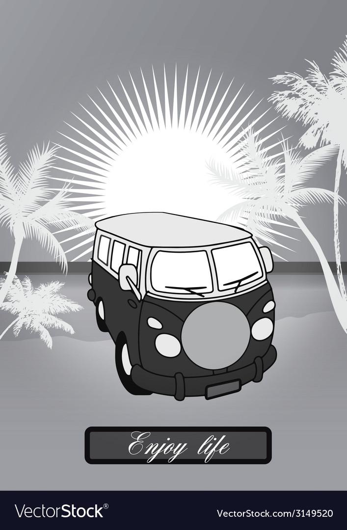 Holiday van background vector