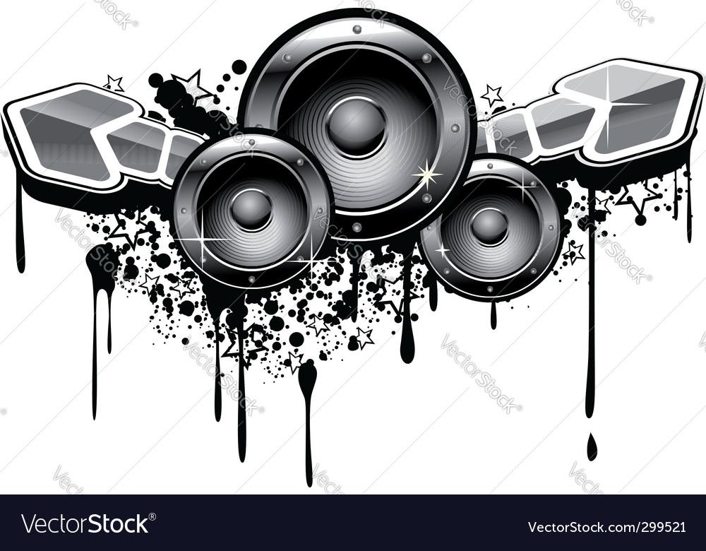 Music grunge vector