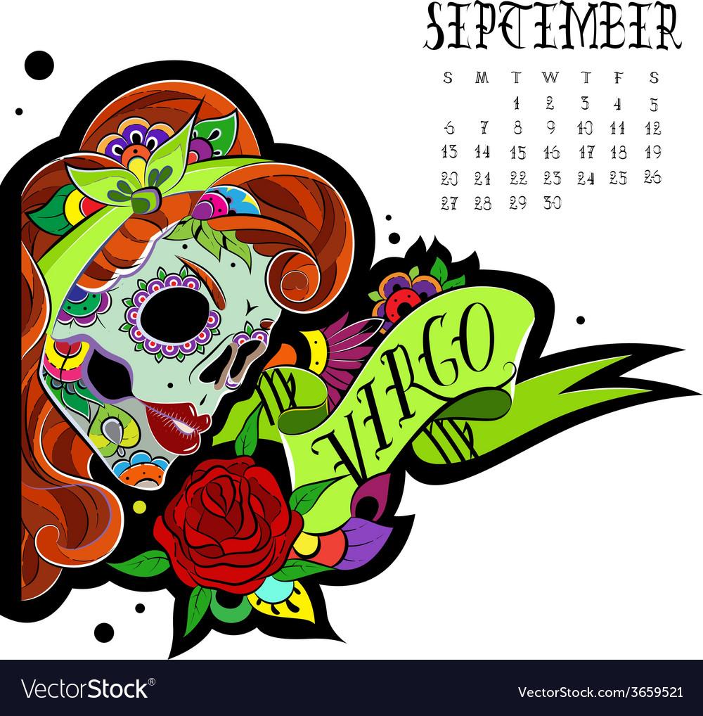 Virgo color vector