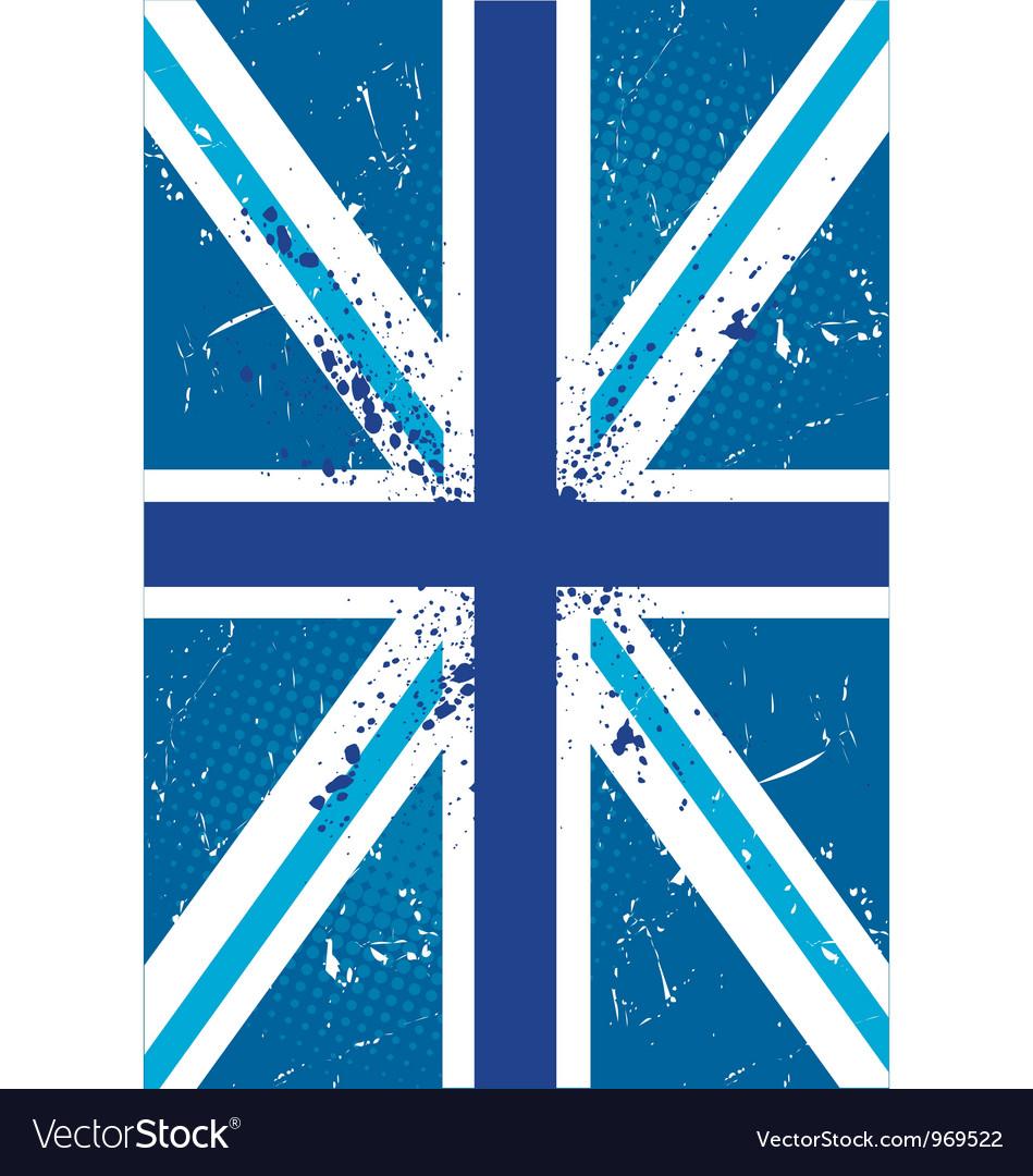 British retro flag vector