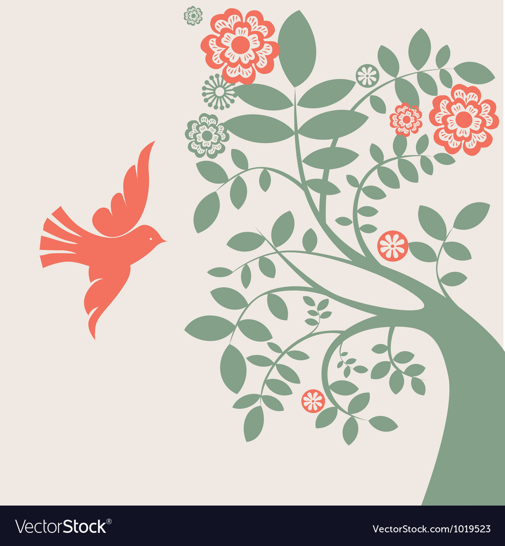Dove and tree vector