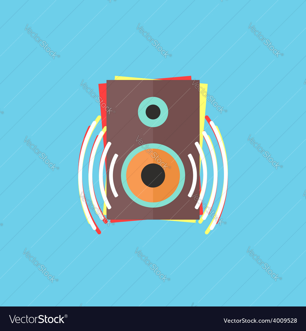 Colorful audio speaker icon vector