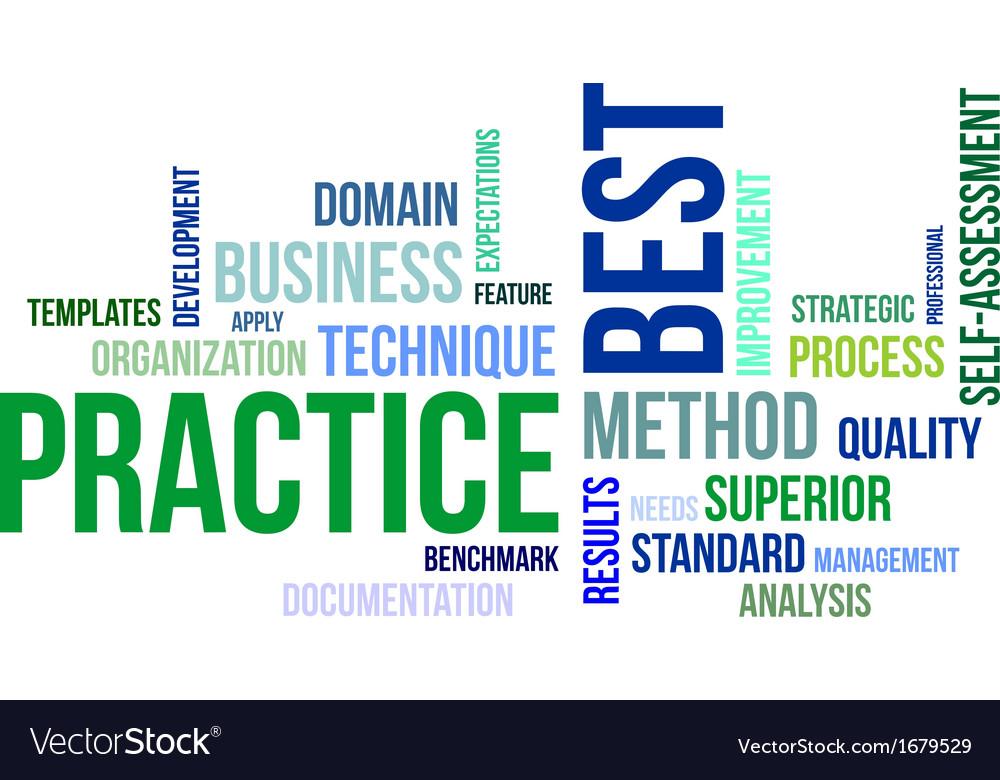 Word cloud best practice vector