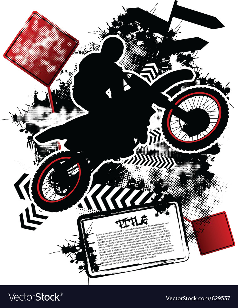 Motorcycle grunge vector