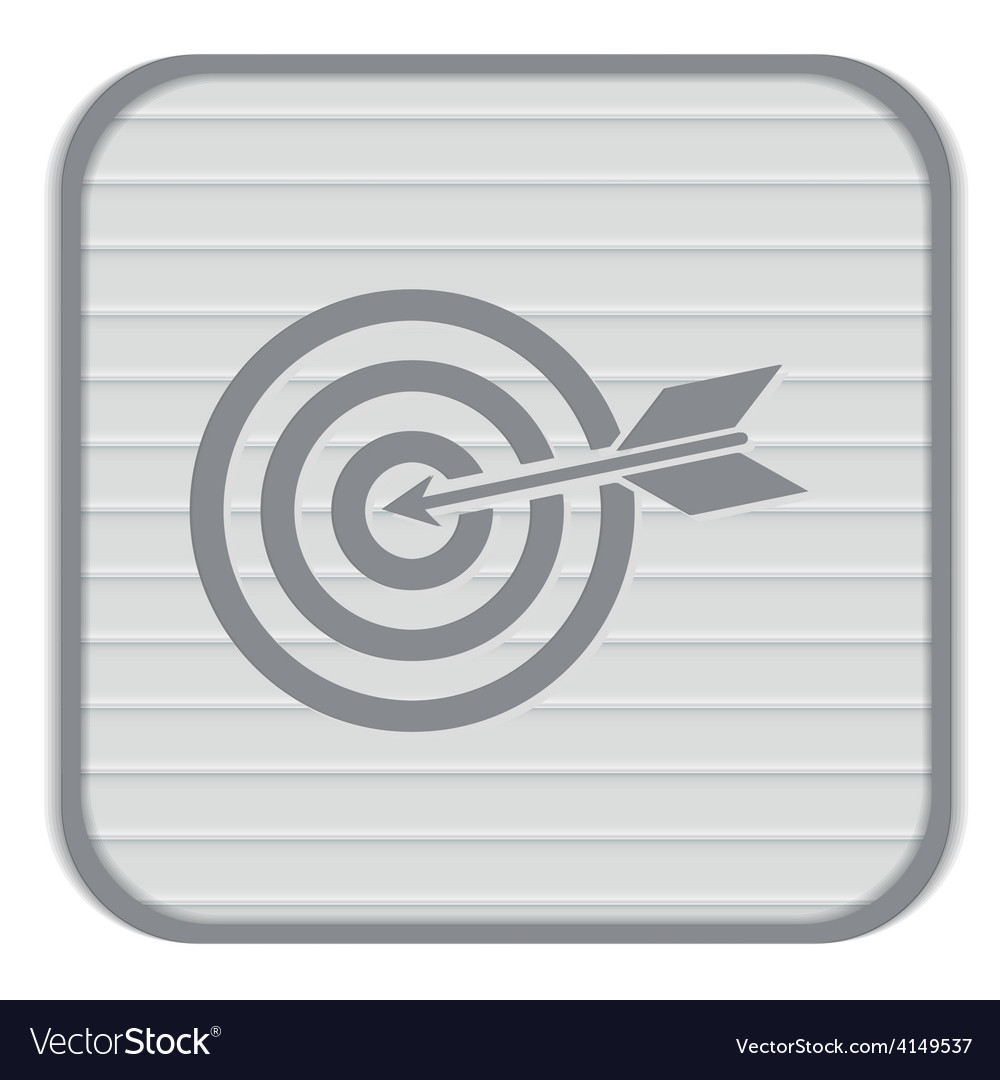 Target symbol sporty character hit the target vector