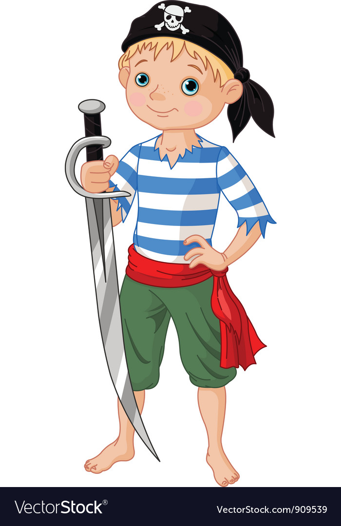 Pirate boy vector