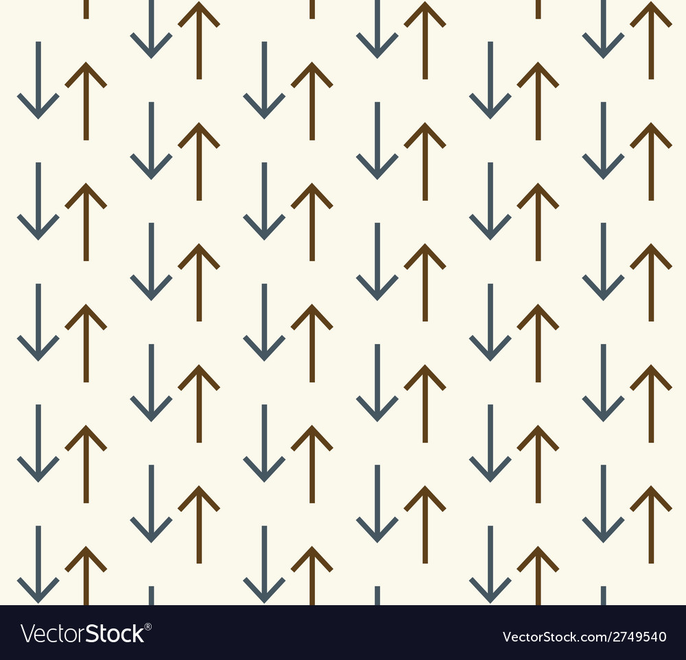 Seamless abstract pattern with arrows vector