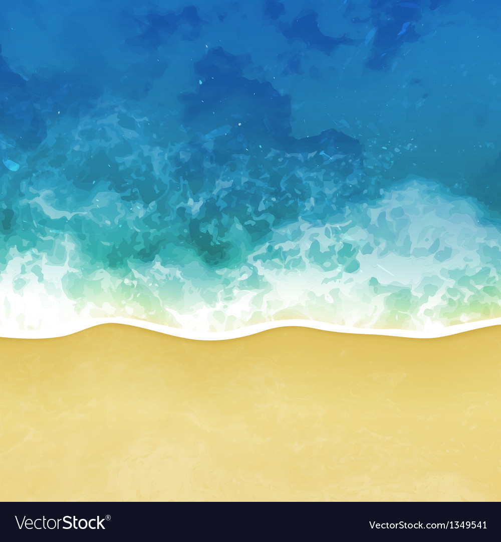 Sea beach background vector