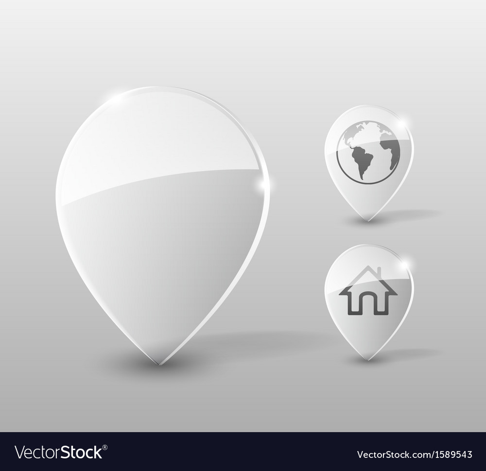 Glass pin vector