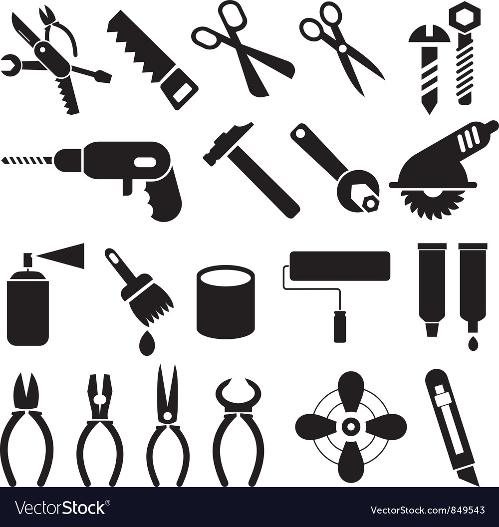 Tool symbols vector