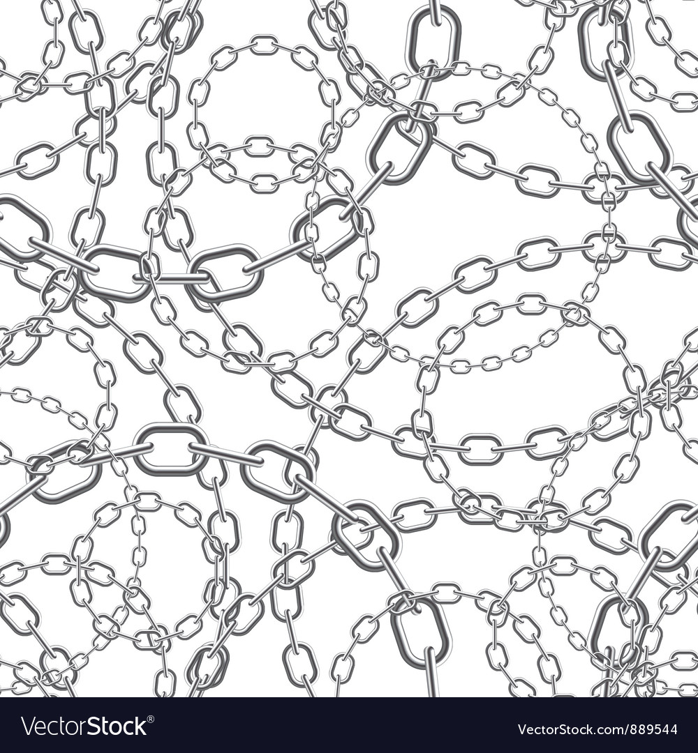 Metal chain seamless background vector
