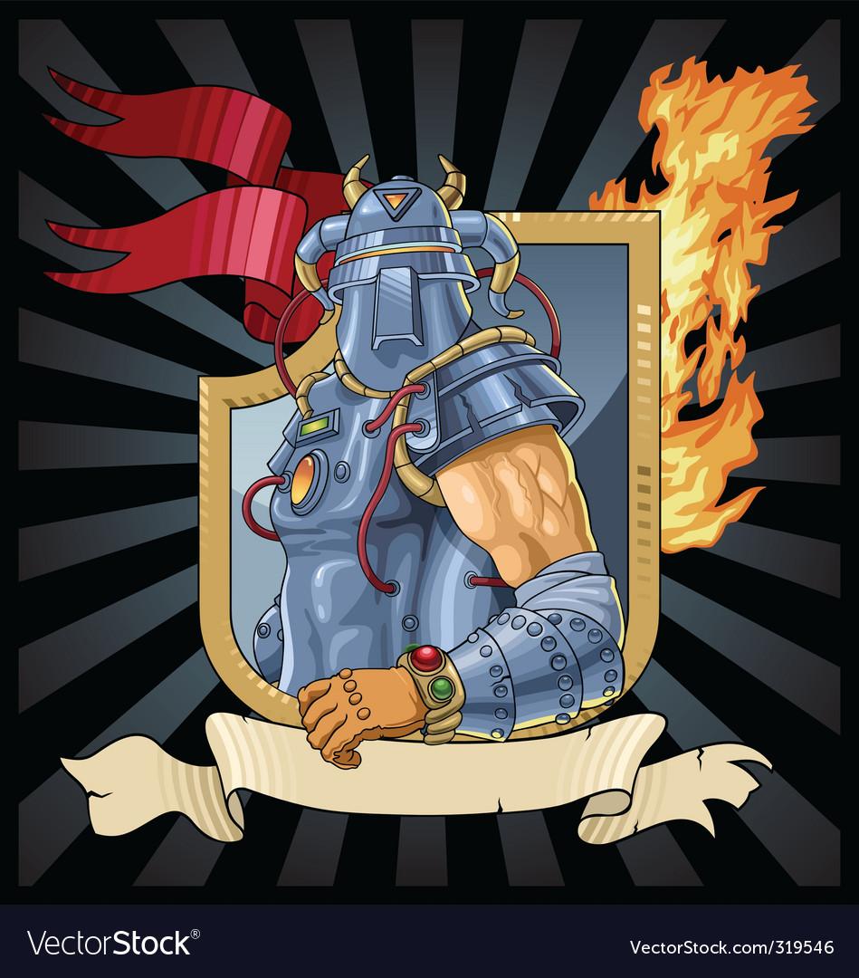 Knight in armor vector