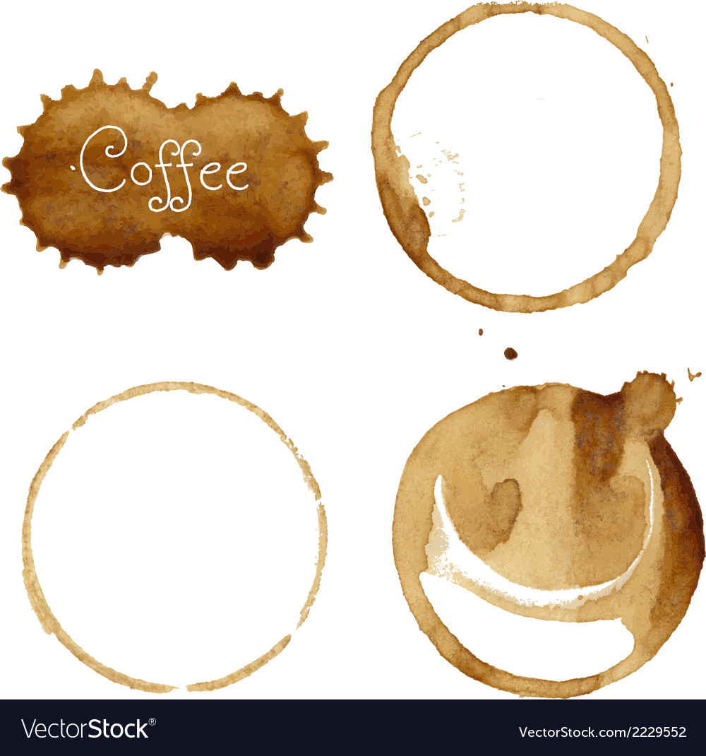 Coffee stain collection vector