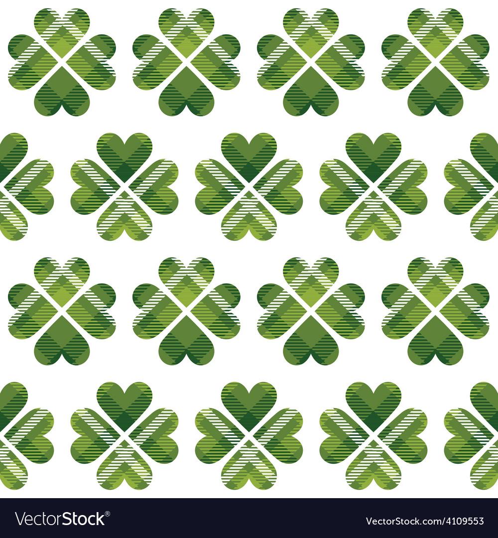 Saint patricks day tartan seamless pattern vector