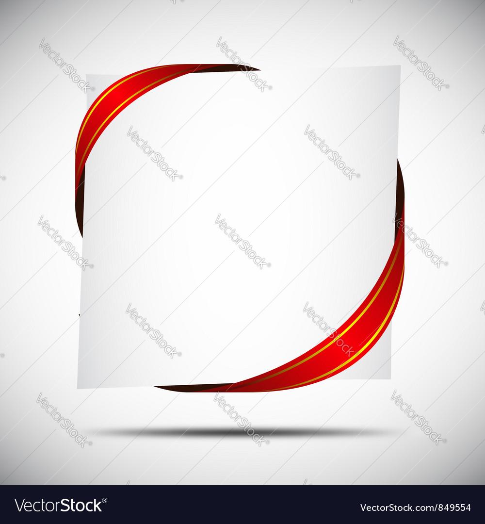 Red corner ribbon vector