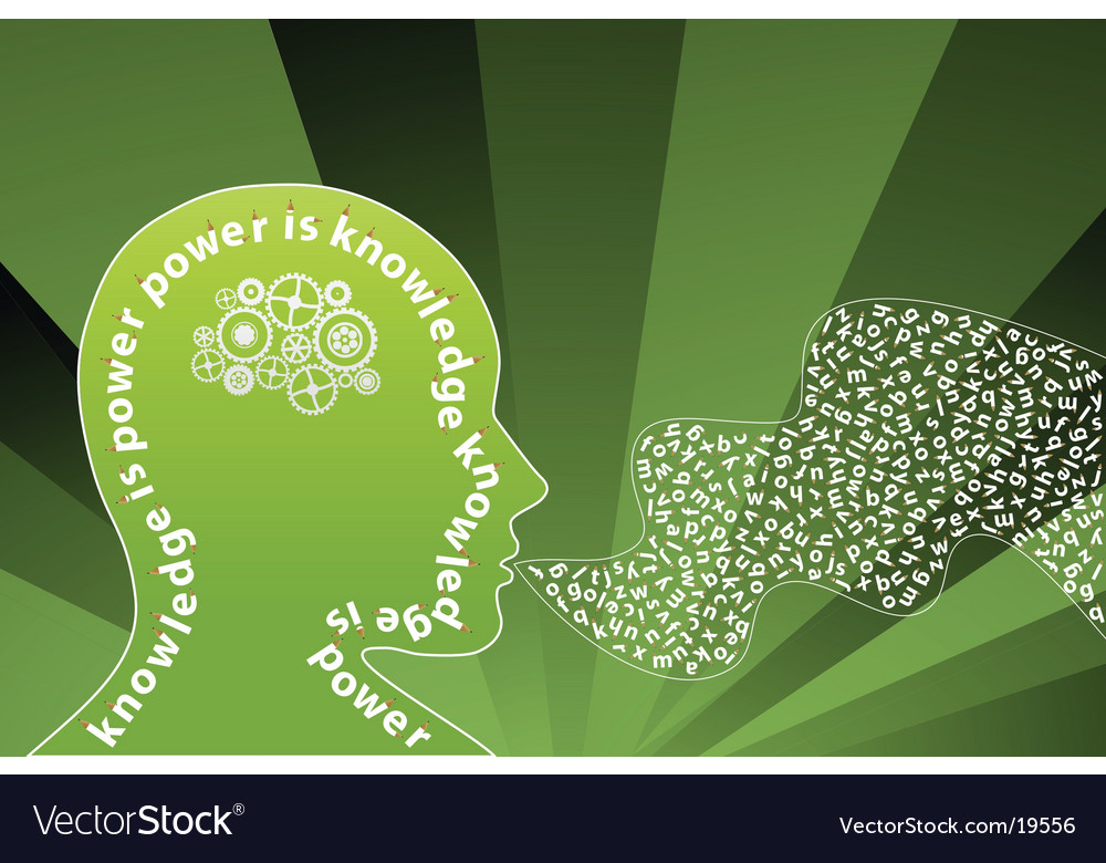 Creative mind background vector