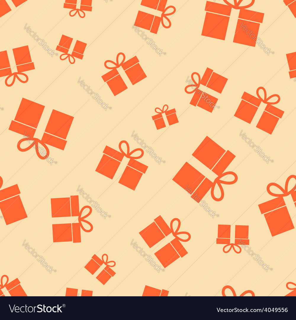 Gift pattern seamless vector