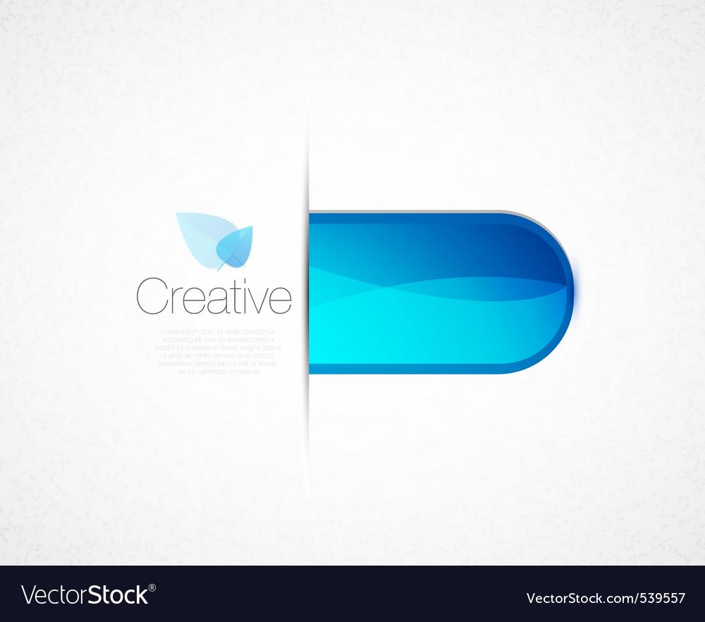 Creative tab vector