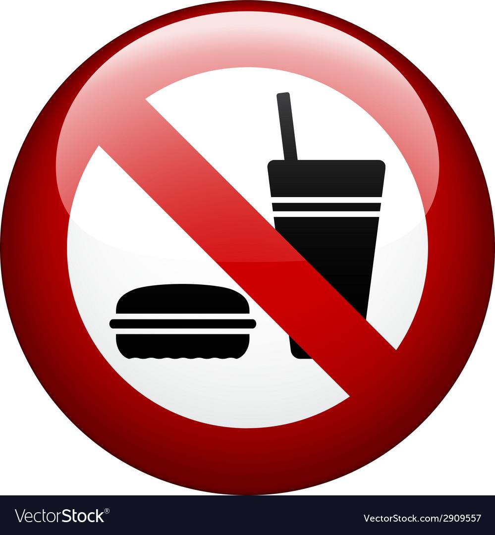 No food mark vector