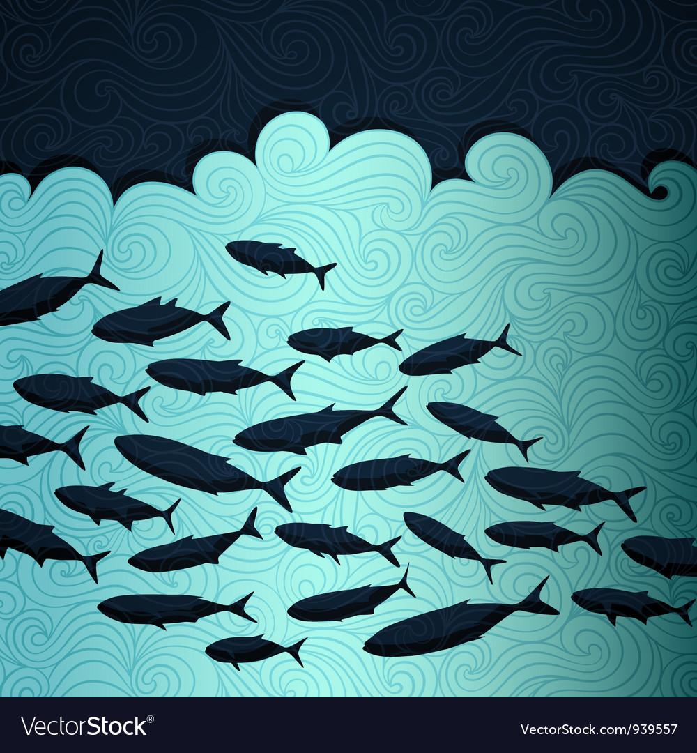 Ocean life vector