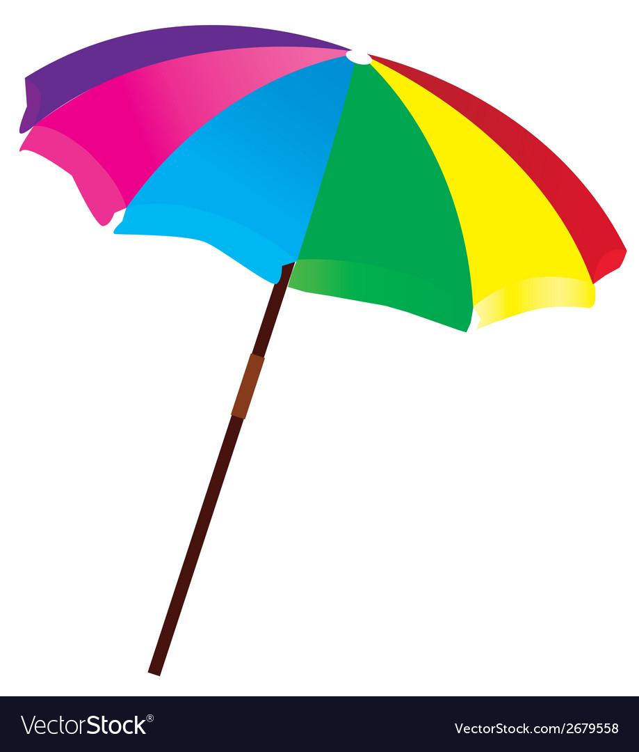Beach umbrella vector