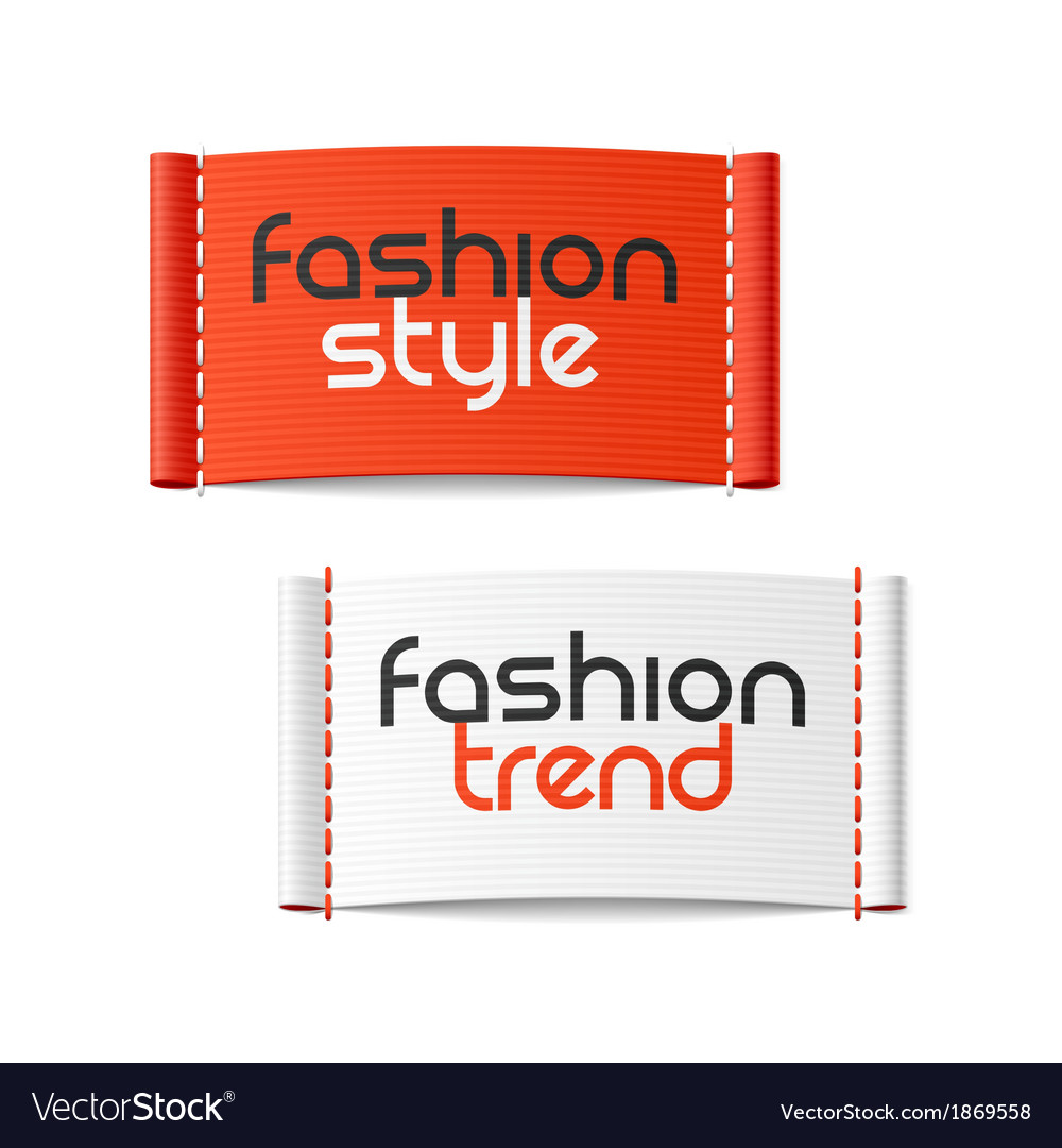 Fashion style and fashion trend clothing labels vector