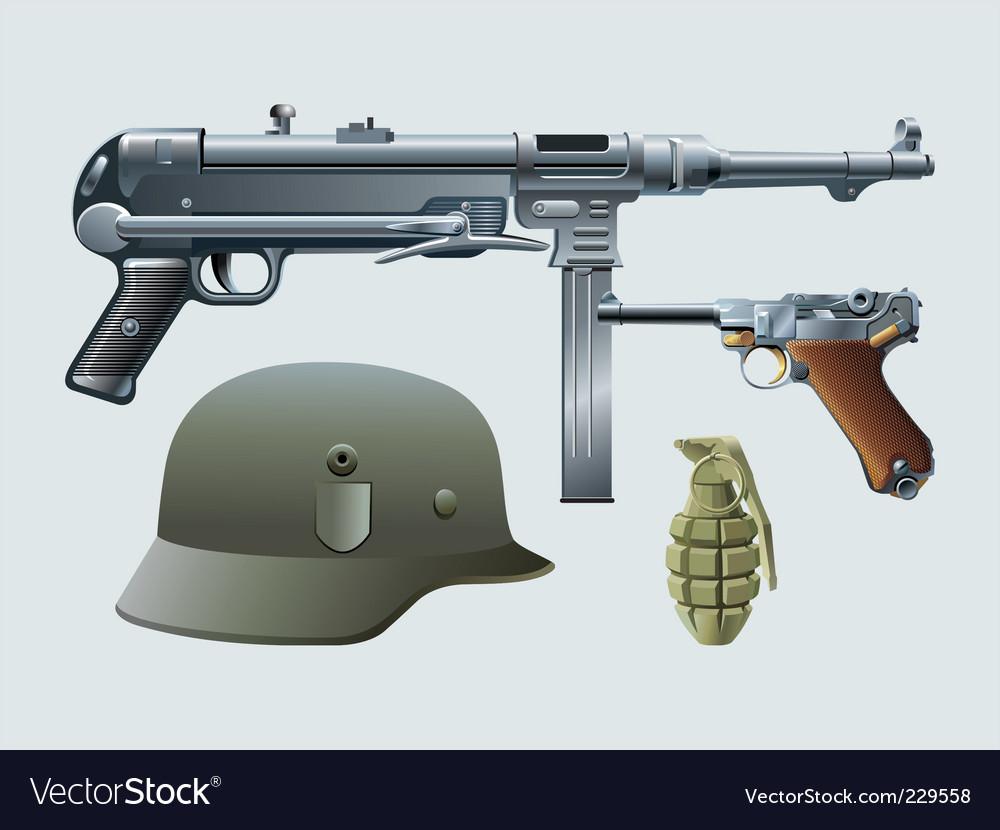 German machine gun vector