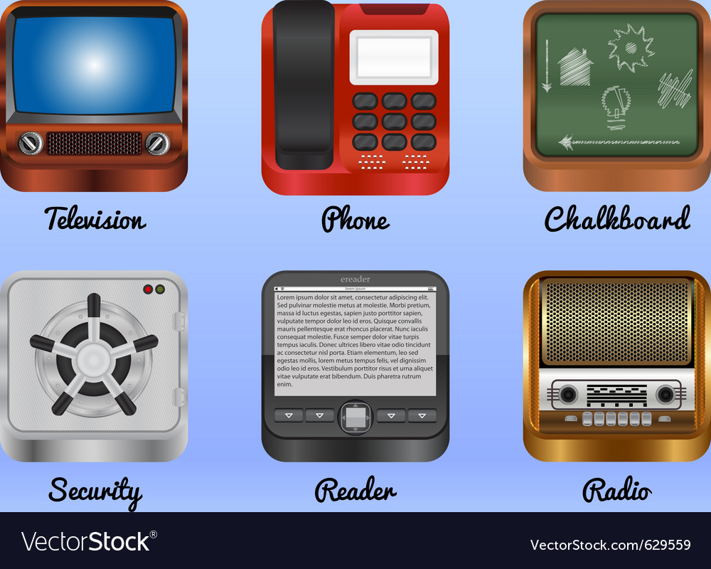 Mobile android icons vector
