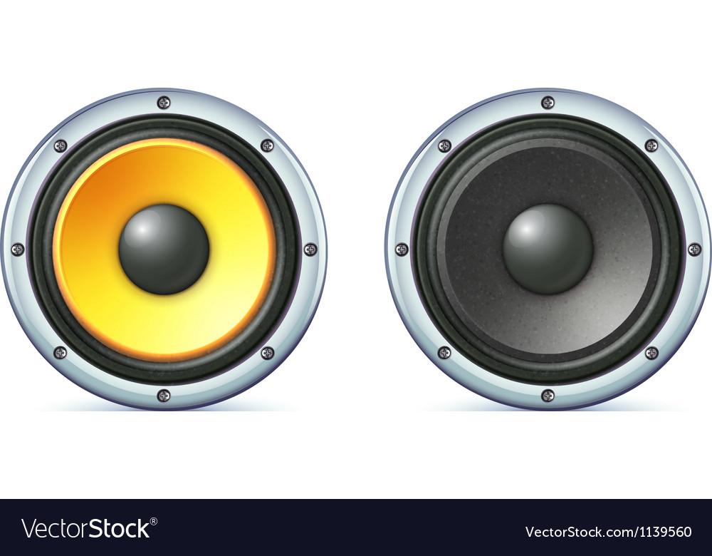 Sound loud speakers vector